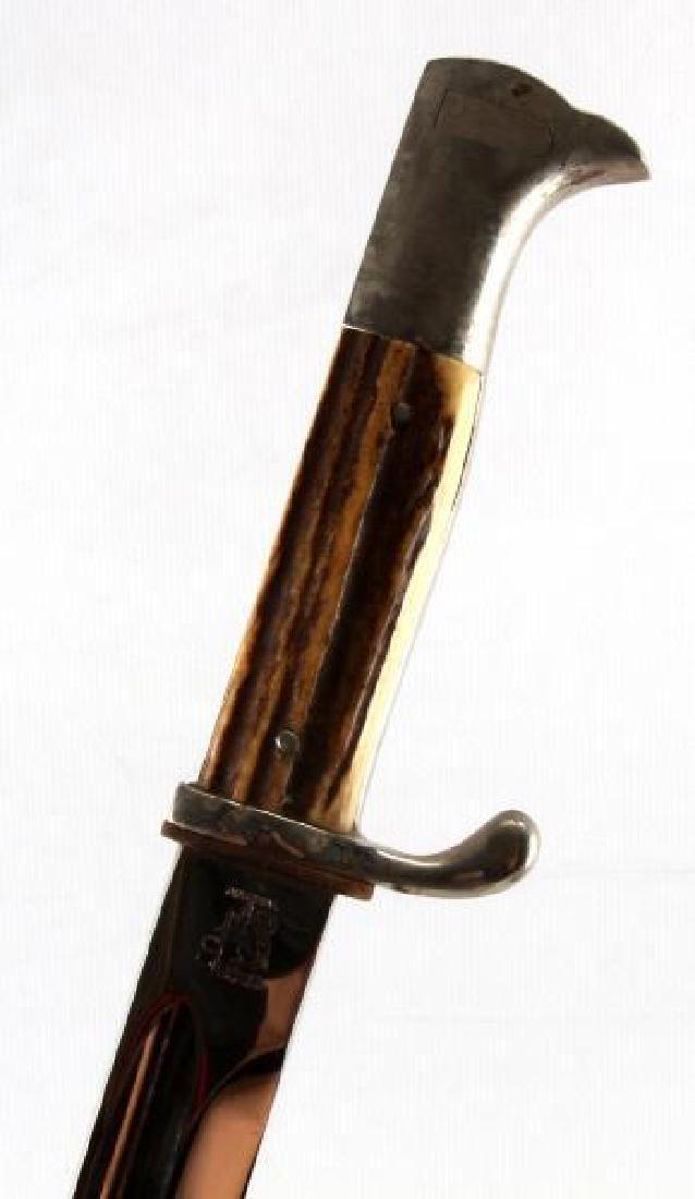 Wwii German 3rd Reich Stag Handle Dress Bayonet
