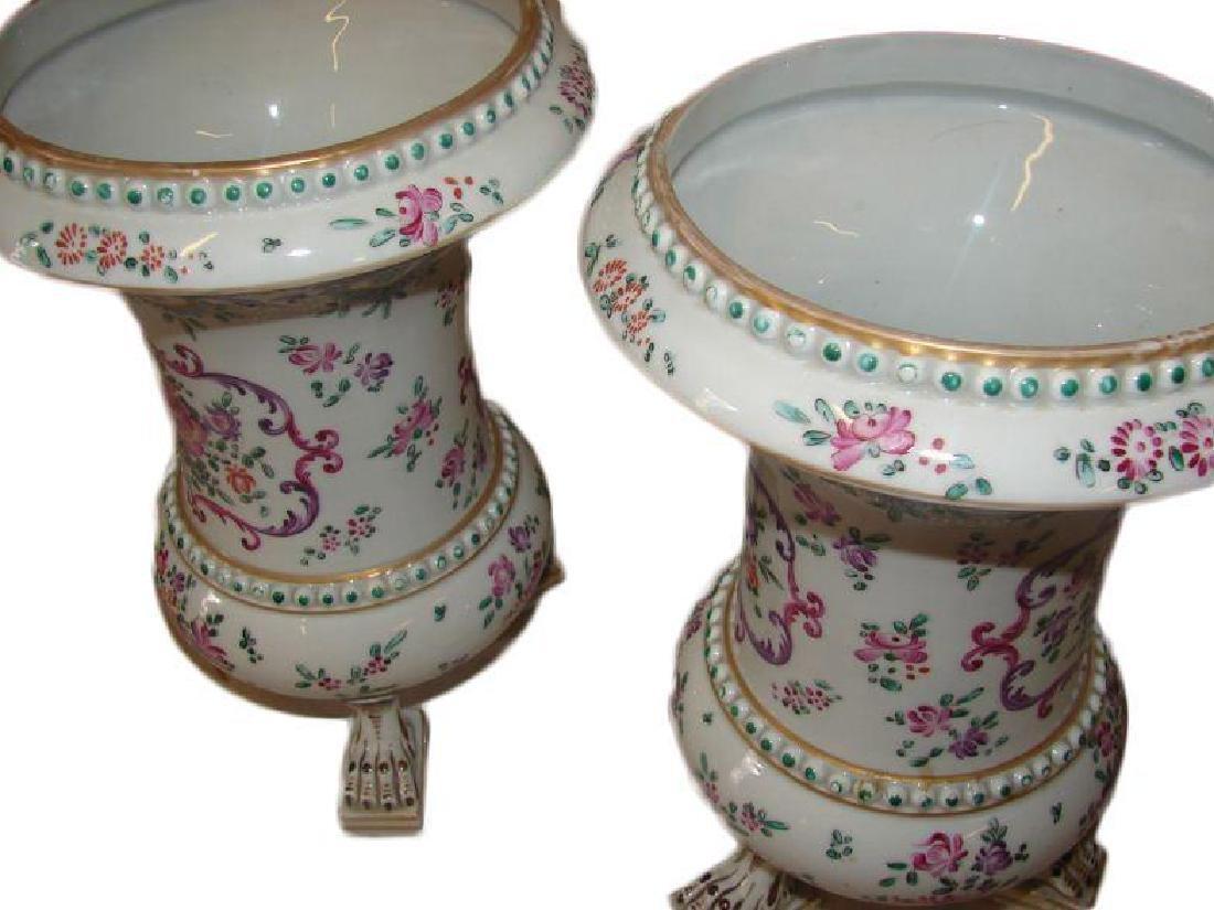 19thc Matched Pair, Victorian Porcelain Vases - 2