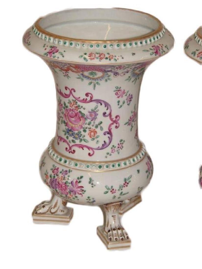 19thc Matched Pair, Victorian Porcelain Vases - 3