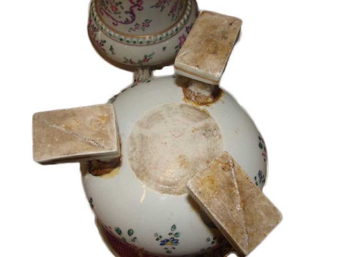 19thc Matched Pair, Victorian Porcelain Vases - 5