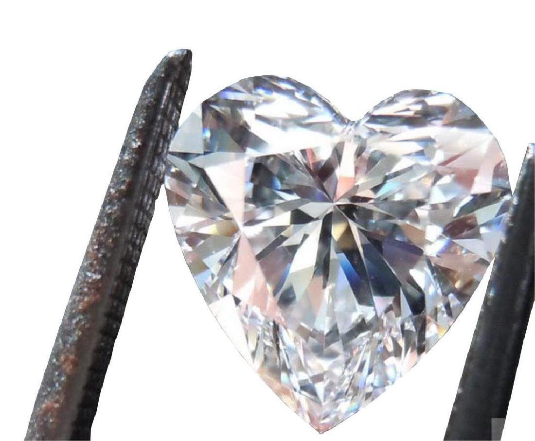 3ct Heart Facet BIANCO Diamond