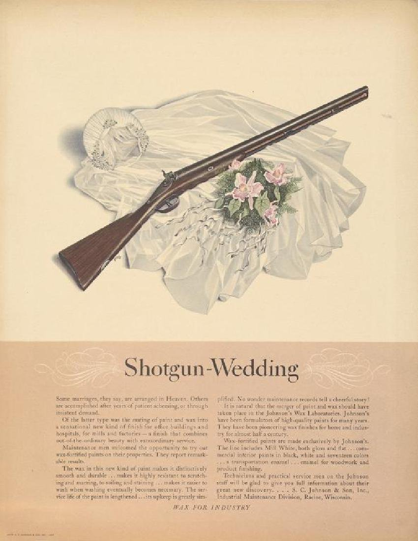 1941 S.C. Johnson & Son Shotgun Wedding Ad