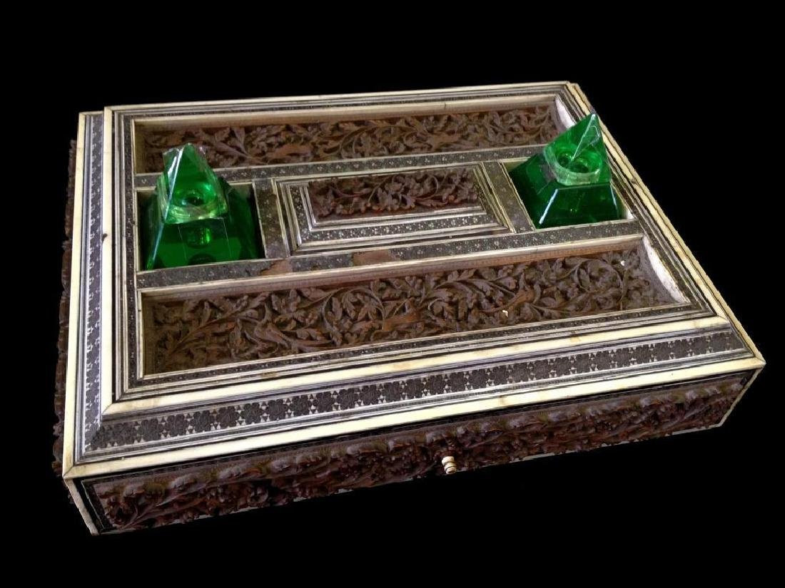 Mid 19thc Anglo-Indian Sadeli Inkstand Box