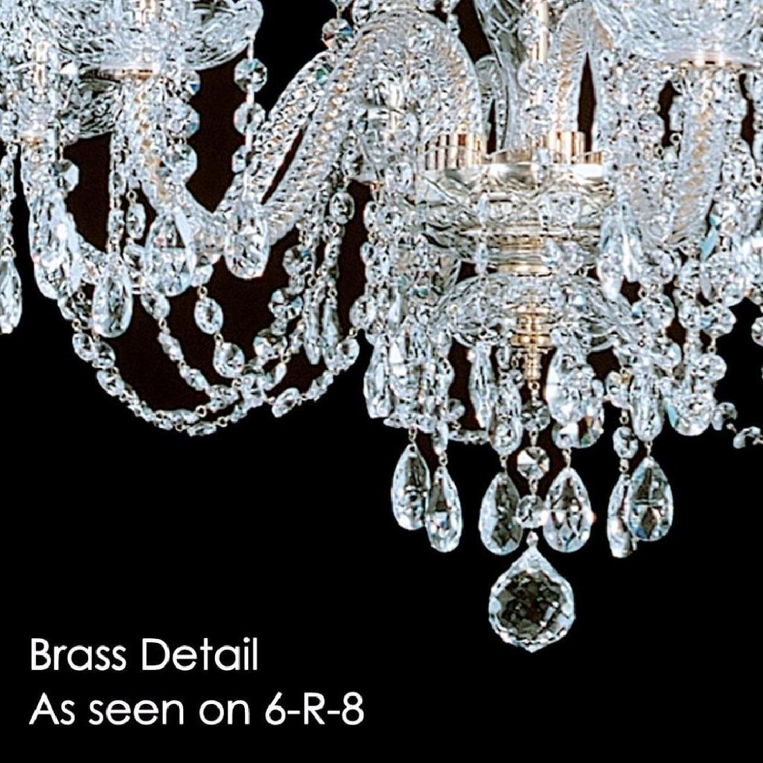 6-R-8 NF - 6 LIGHT CRYSTAL CHANDELIER WITH SWAROVSKI - - 3