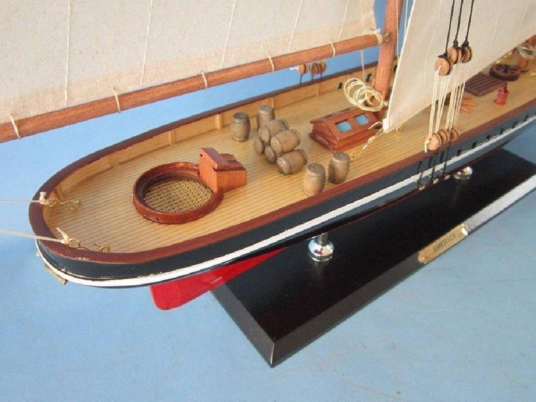 "Wooden America Limited Model Sailboat 35"" - 3"
