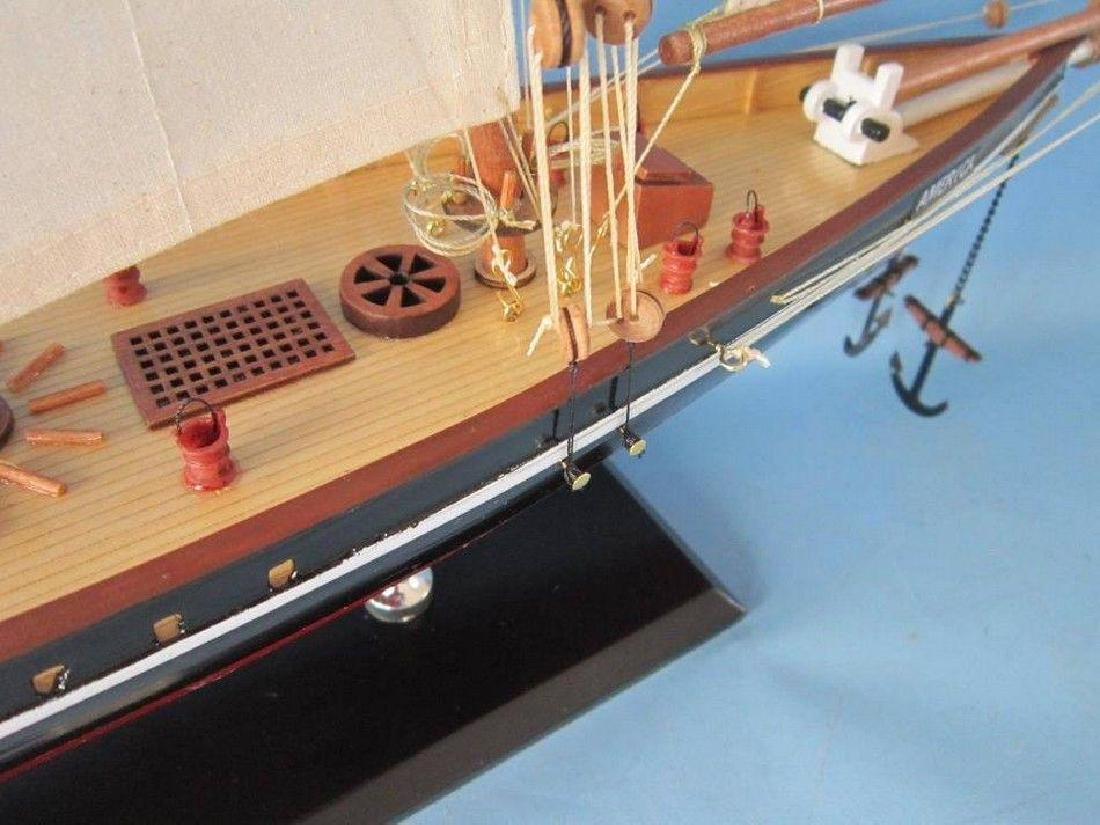 "Wooden America Limited Model Sailboat 35"" - 5"