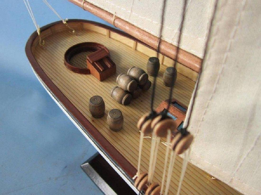 "Wooden America Limited Model Sailboat 35"" - 8"