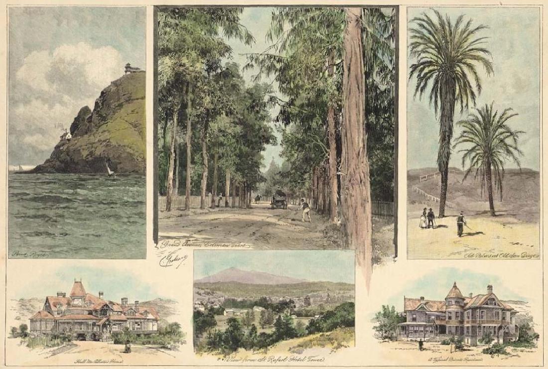 1889 Hand-colored Print, San Rafael, San Diego