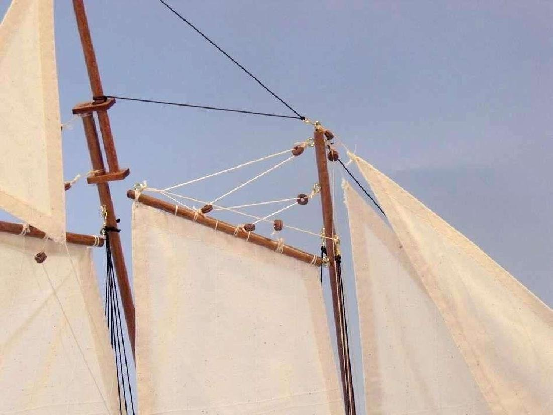 "Wooden America Limited Model Sailboat 24"" - 3"