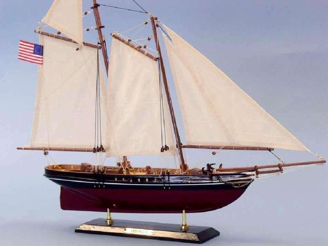 "Wooden America Limited Model Sailboat 24"" - 4"