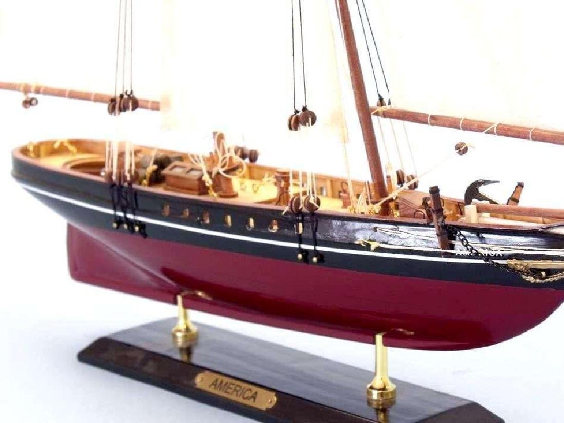 "Wooden America Limited Model Sailboat 24"" - 6"