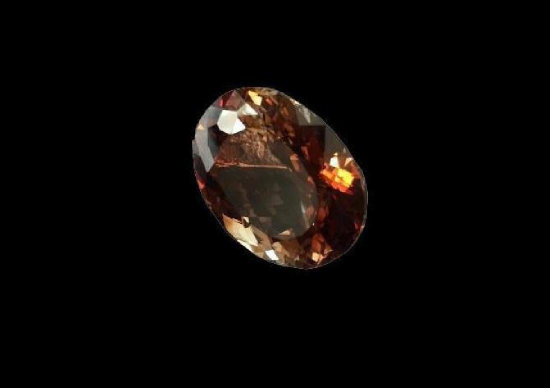 42.87cts Oval Cute Smoky Quartz Gemstone