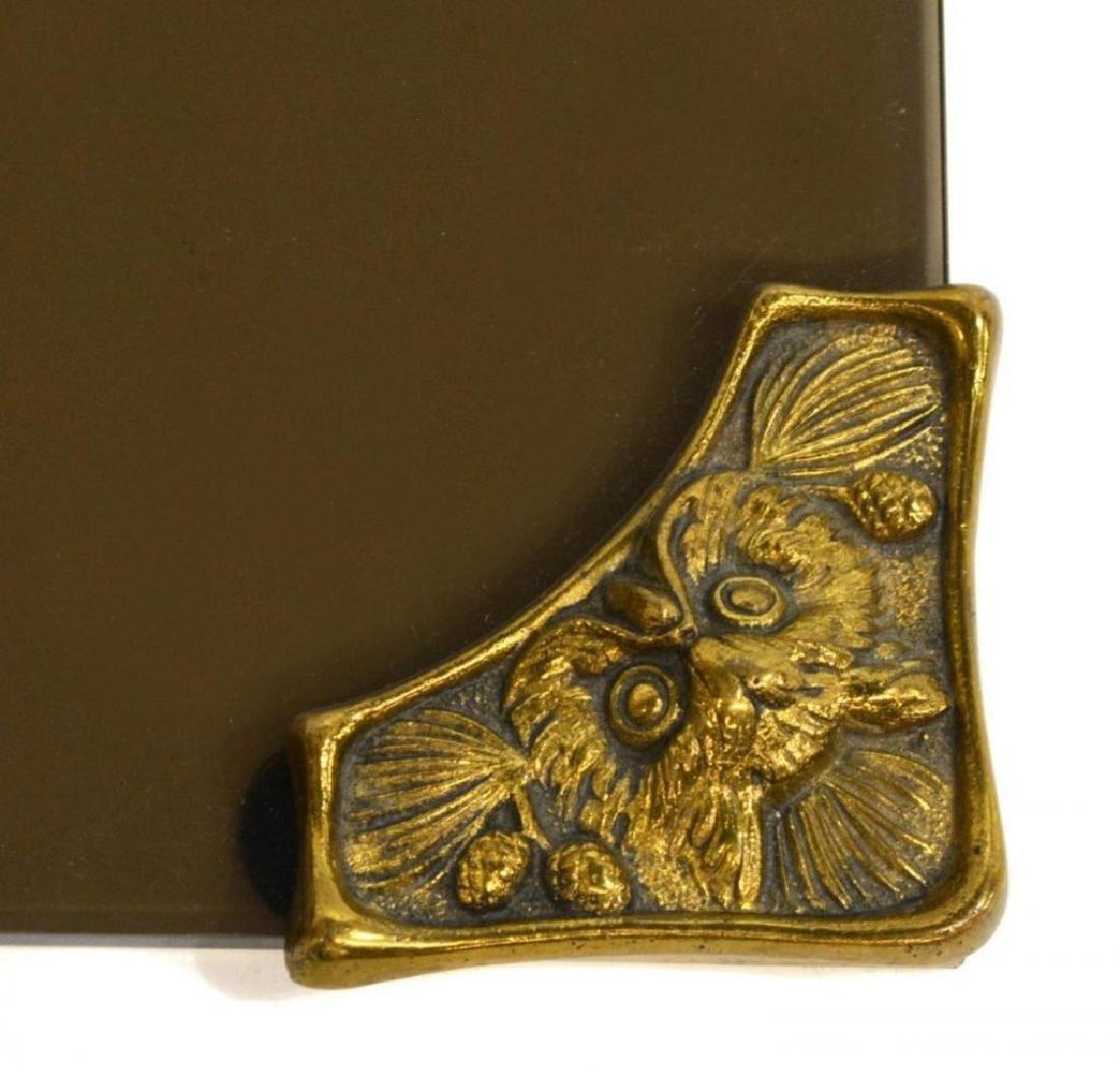 Art Nouveau Cast Iron Owl Desk Set - 4