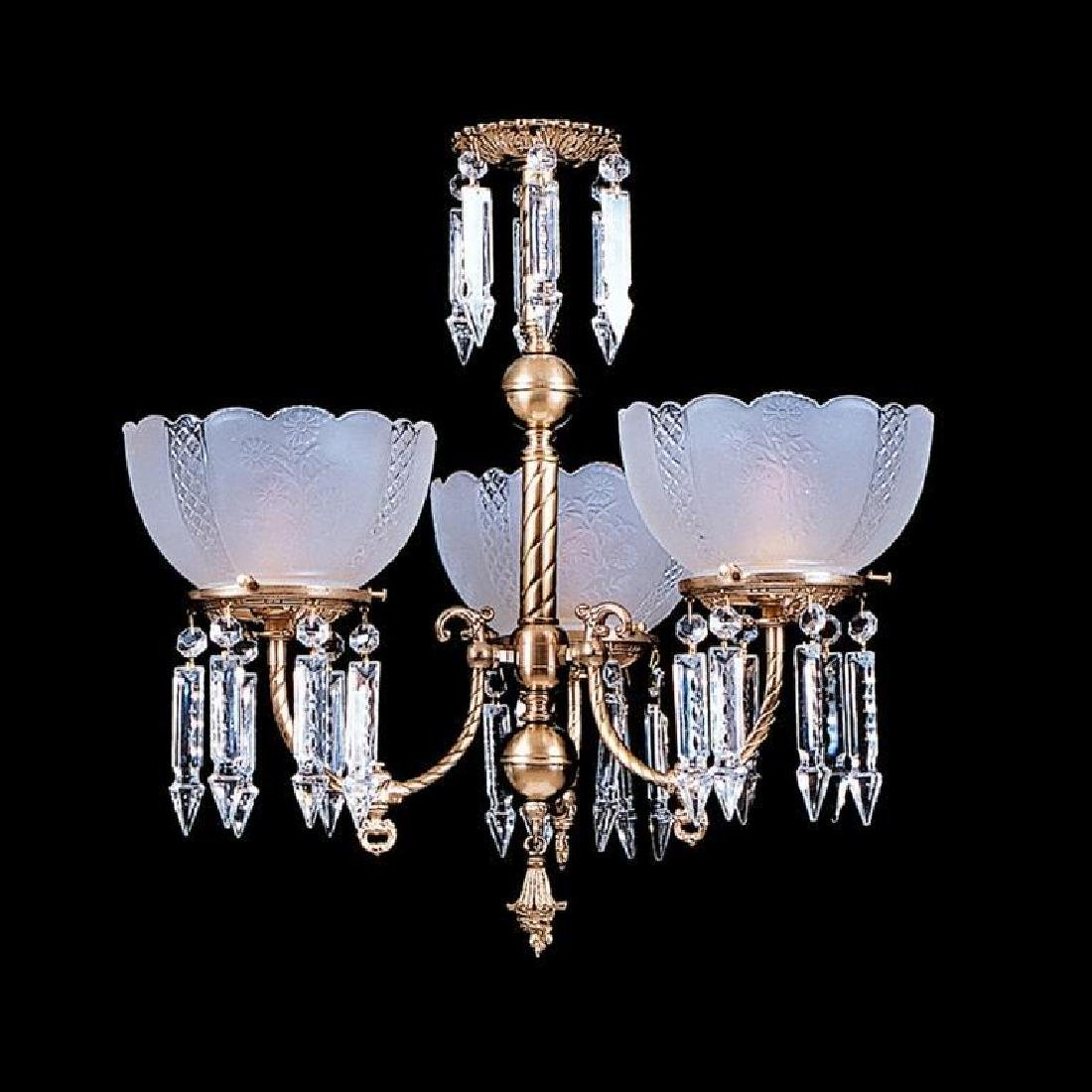 Victorian Style Three Light Parlor Chandelier