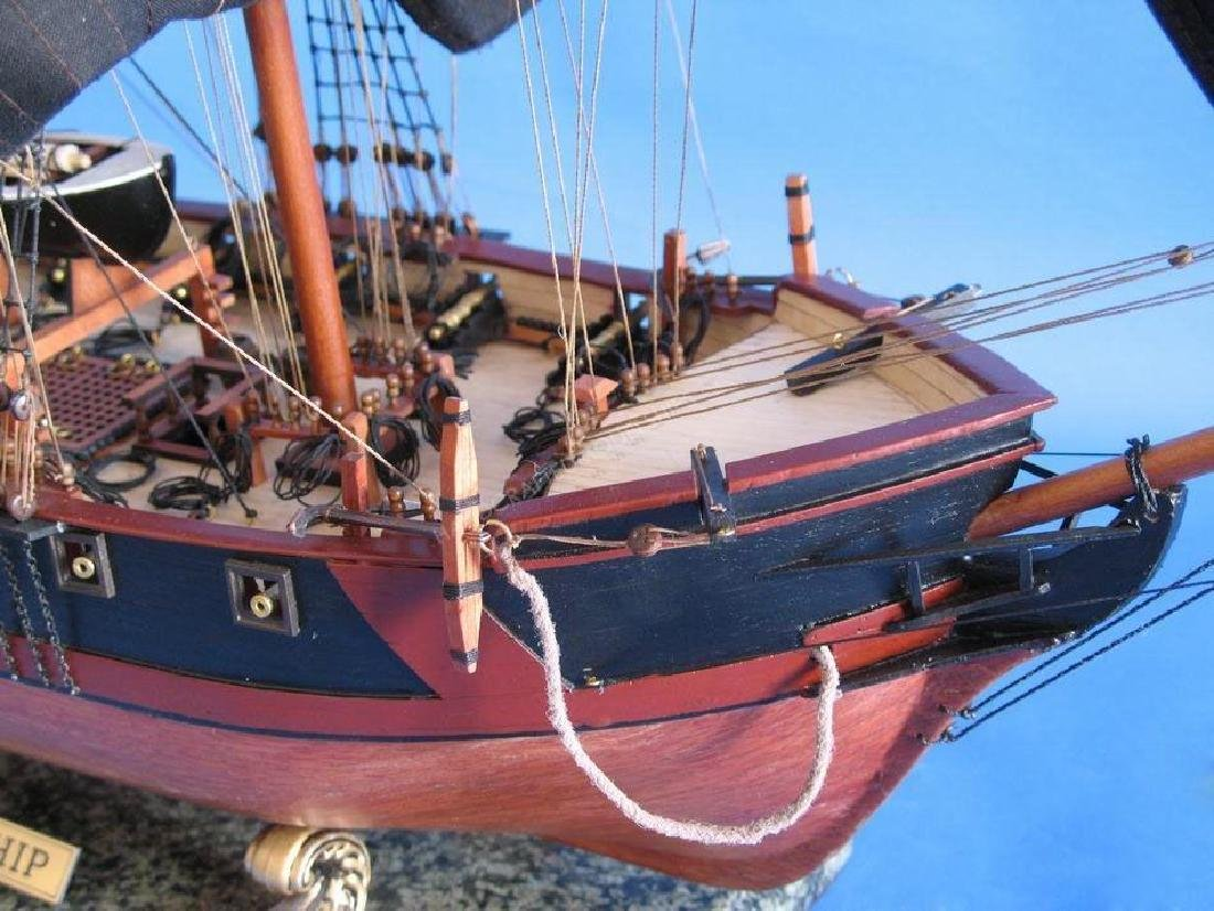 """Wooden Caribbean Pirate Ship Model Limited 37"""" - Black - 3"""