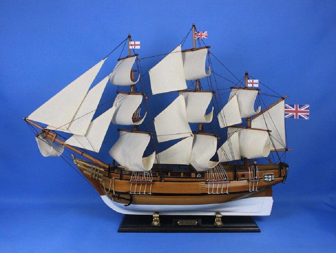 Wooden Charles Darwins HMS Beagle Limited Model Ship - 6