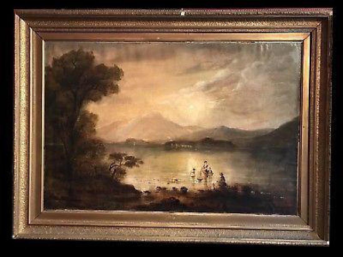 Victorian Scottish Romantic Loch Scene - Figures - 2