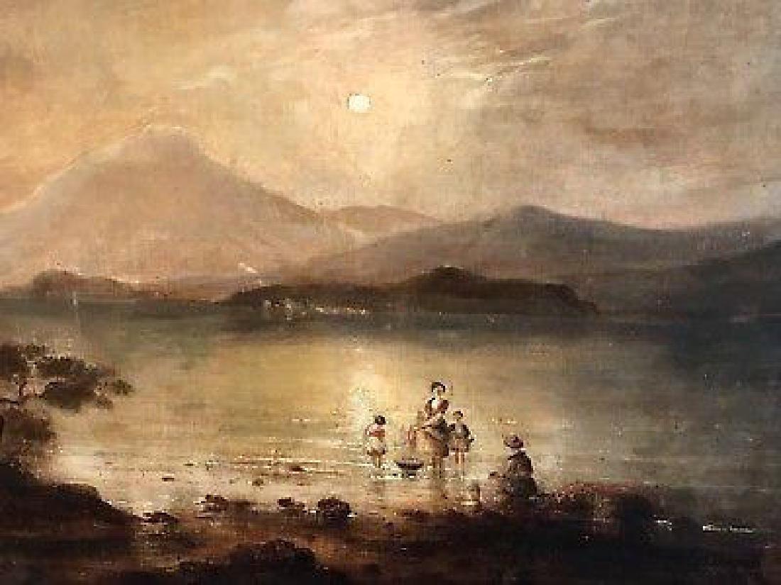 Victorian Scottish Romantic Loch Scene - Figures - 3