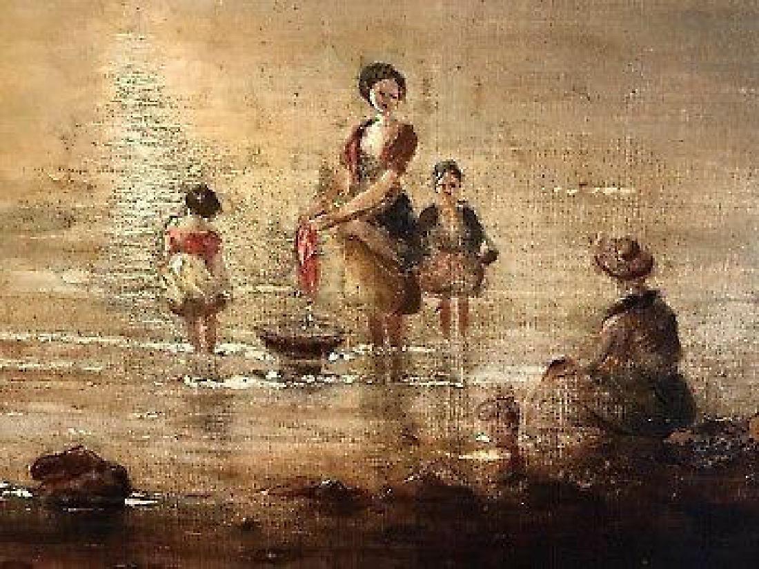 Victorian Scottish Romantic Loch Scene - Figures - 4