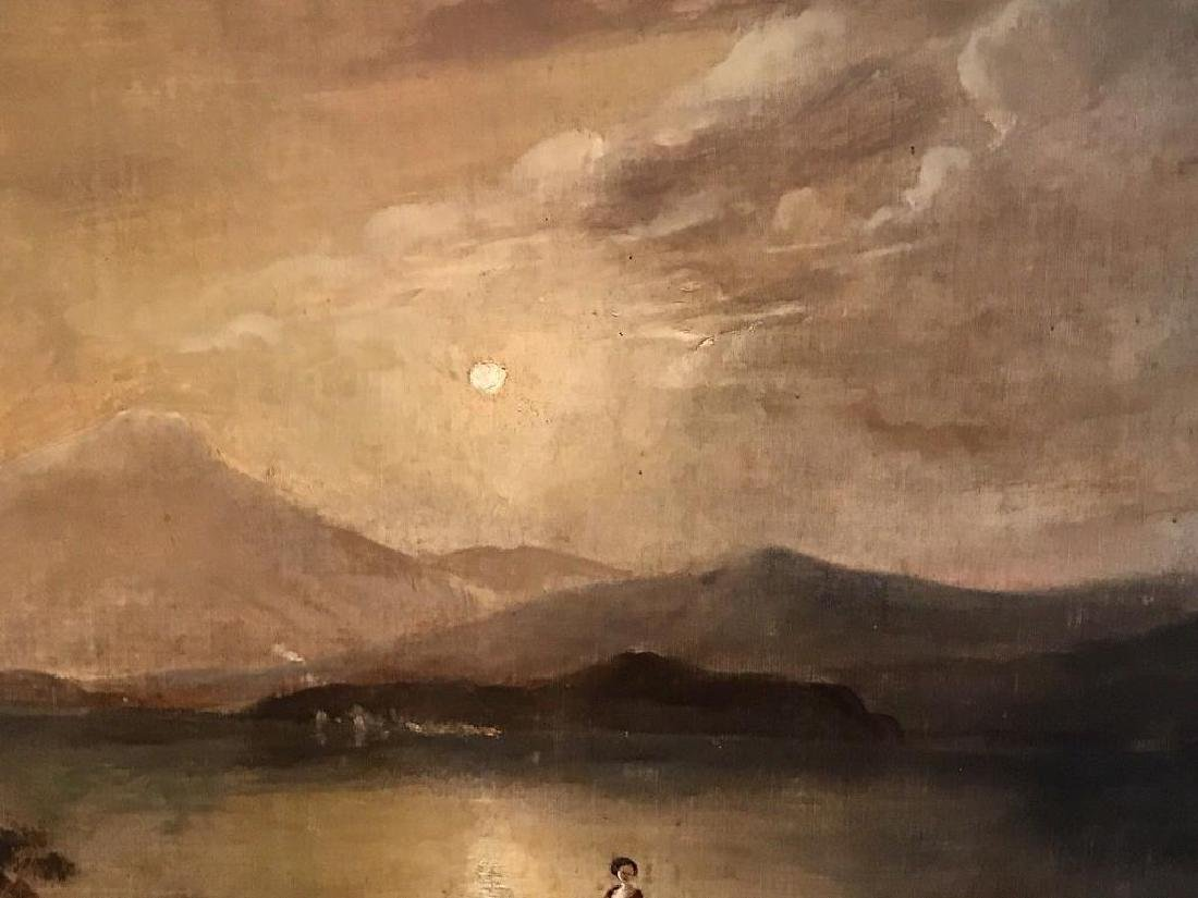 Victorian Scottish Romantic Loch Scene - Figures - 6