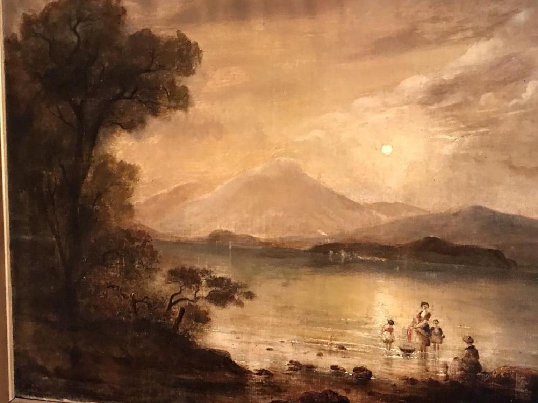 Victorian Scottish Romantic Loch Scene - Figures - 7