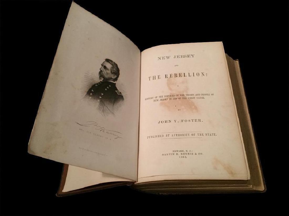 19thc Civil War New Jersey History Book