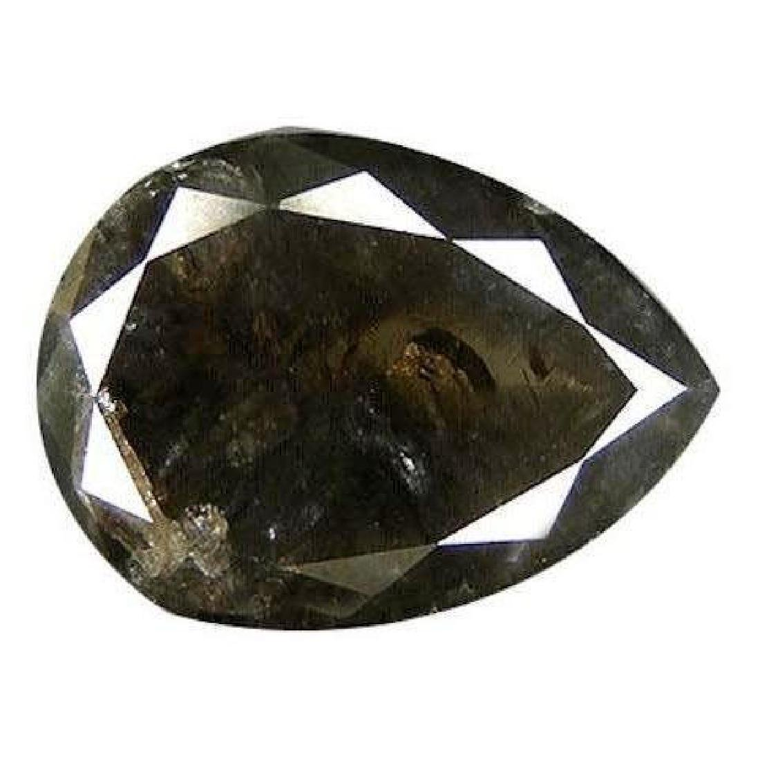 1.32ct Pear Shape Black Natural Diamond