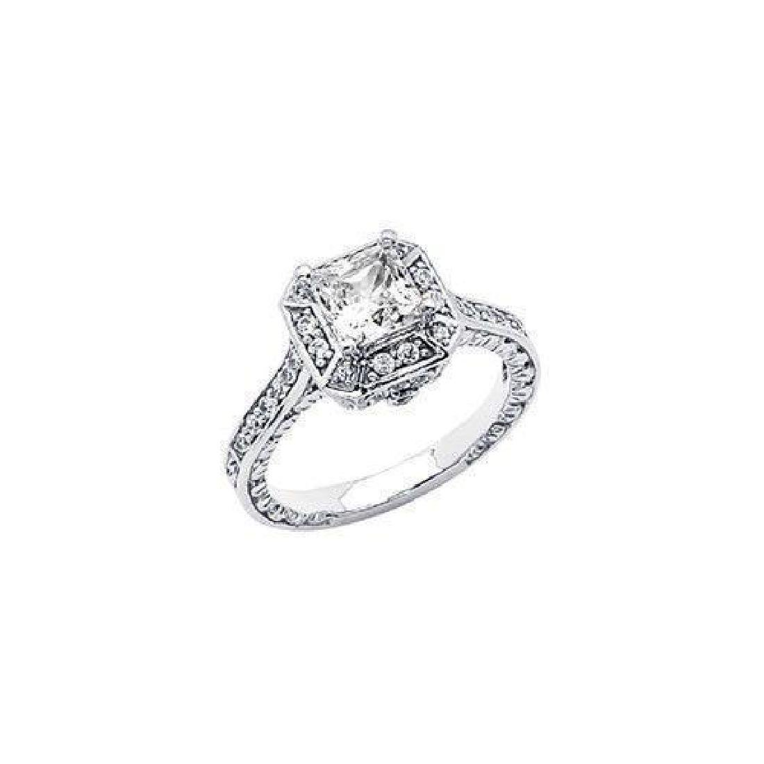 1.75 CT. FLAWLESS BIANCO DIAMOND RING 14K SOLID GOLD