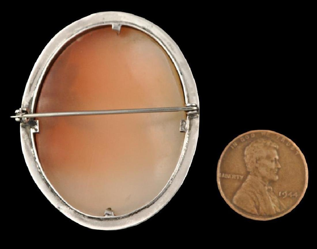 Sterling Silver Italian Cameo Brooch Pin - 2