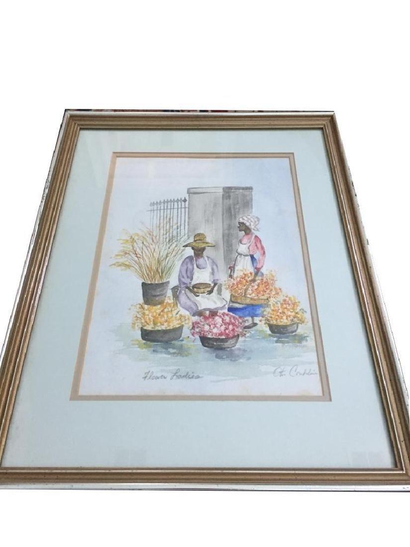 Charleston Flower Ladies Watercolor, Otis Conklin