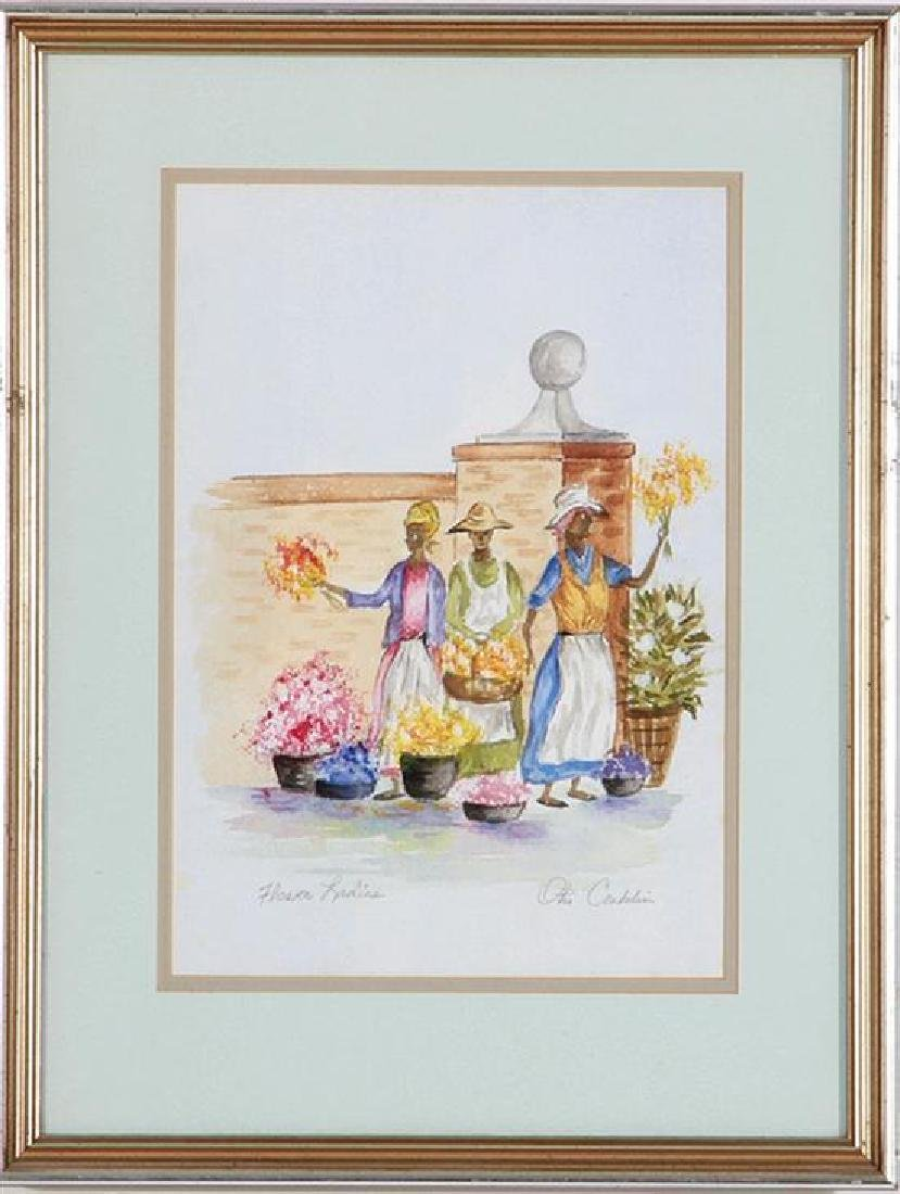 Charleston Flower Ladies Watercolor, Otis Conklin - 3