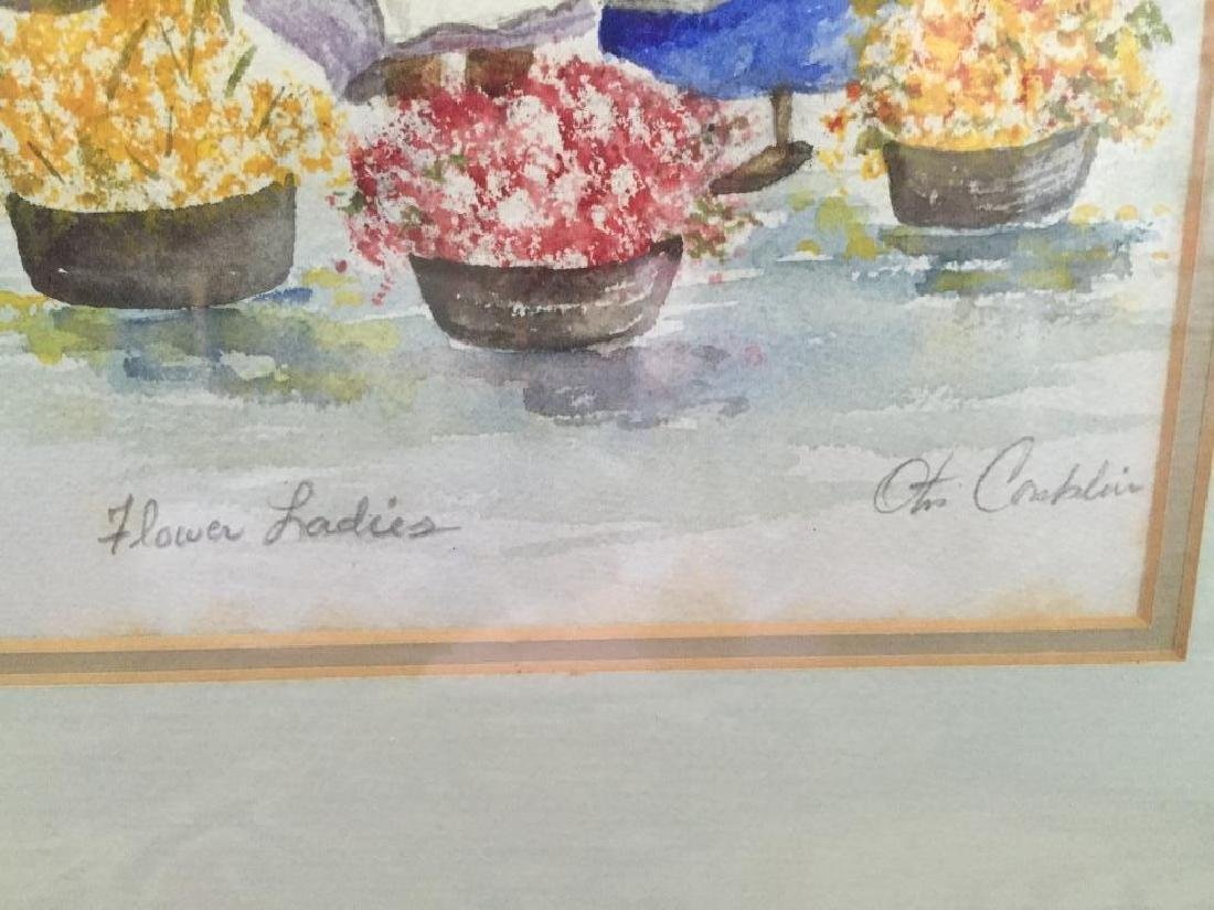 Charleston Flower Ladies Watercolor, Otis Conklin - 6