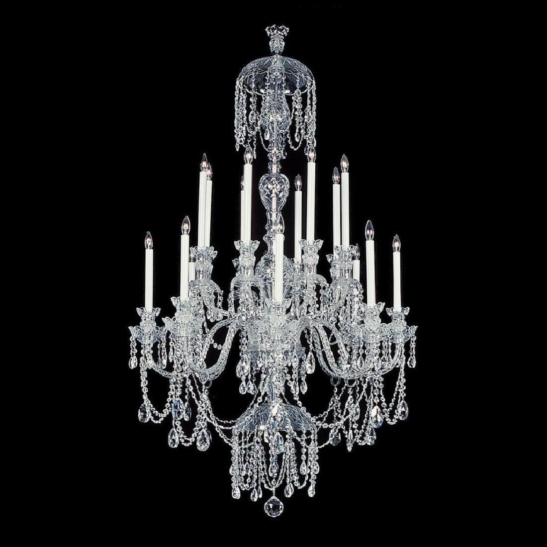 Winter Elegance - 16 Light Crystal Chandelier with