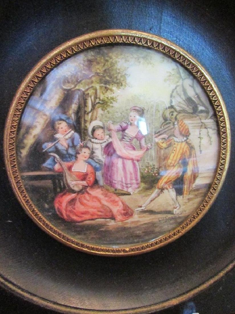Hand-painted Signed Miniature Painting on Porcelain, - 2