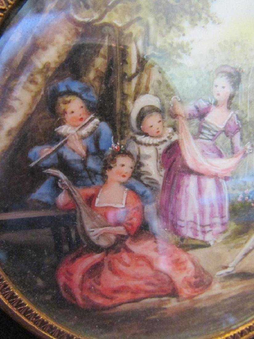 Hand-painted Signed Miniature Painting on Porcelain, - 5