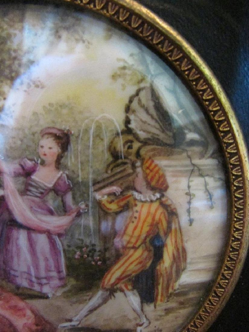 Hand-painted Signed Miniature Painting on Porcelain, - 6
