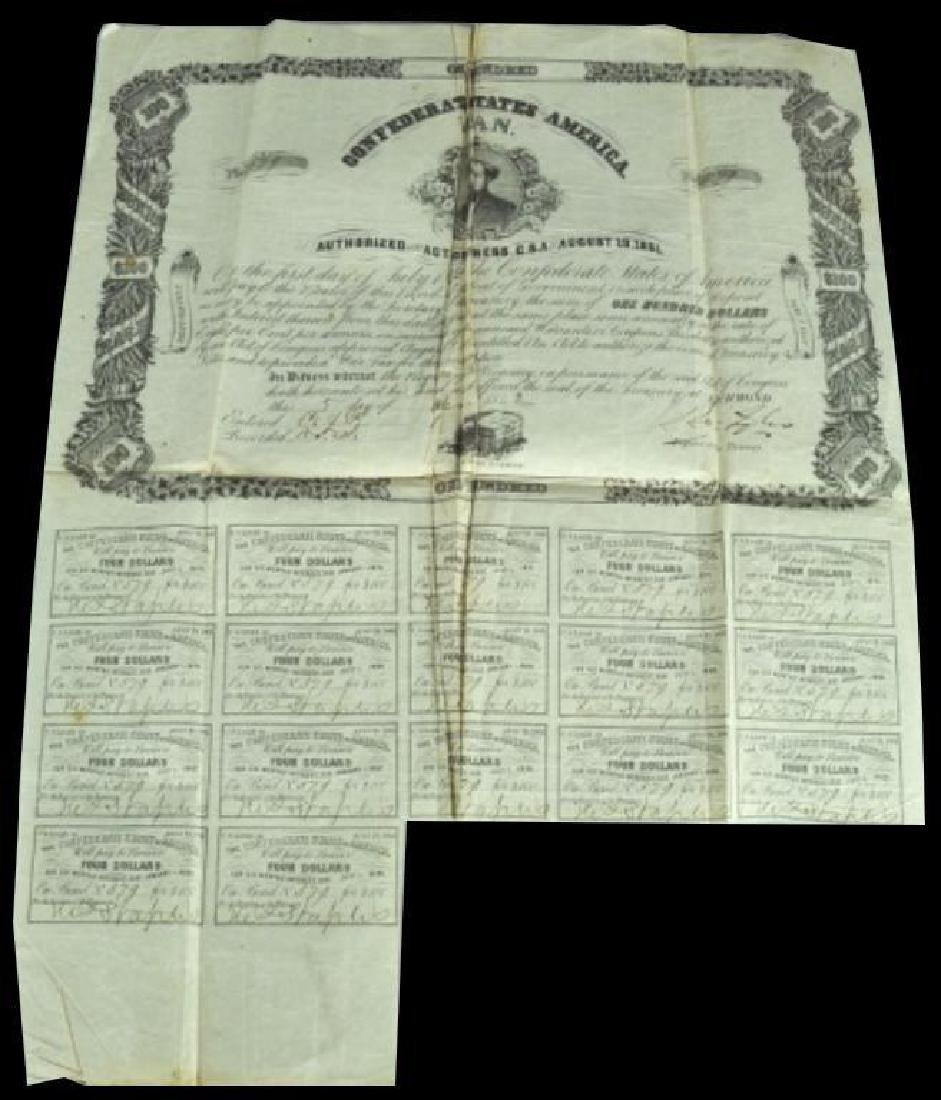 1861 $100 Confederate Bond
