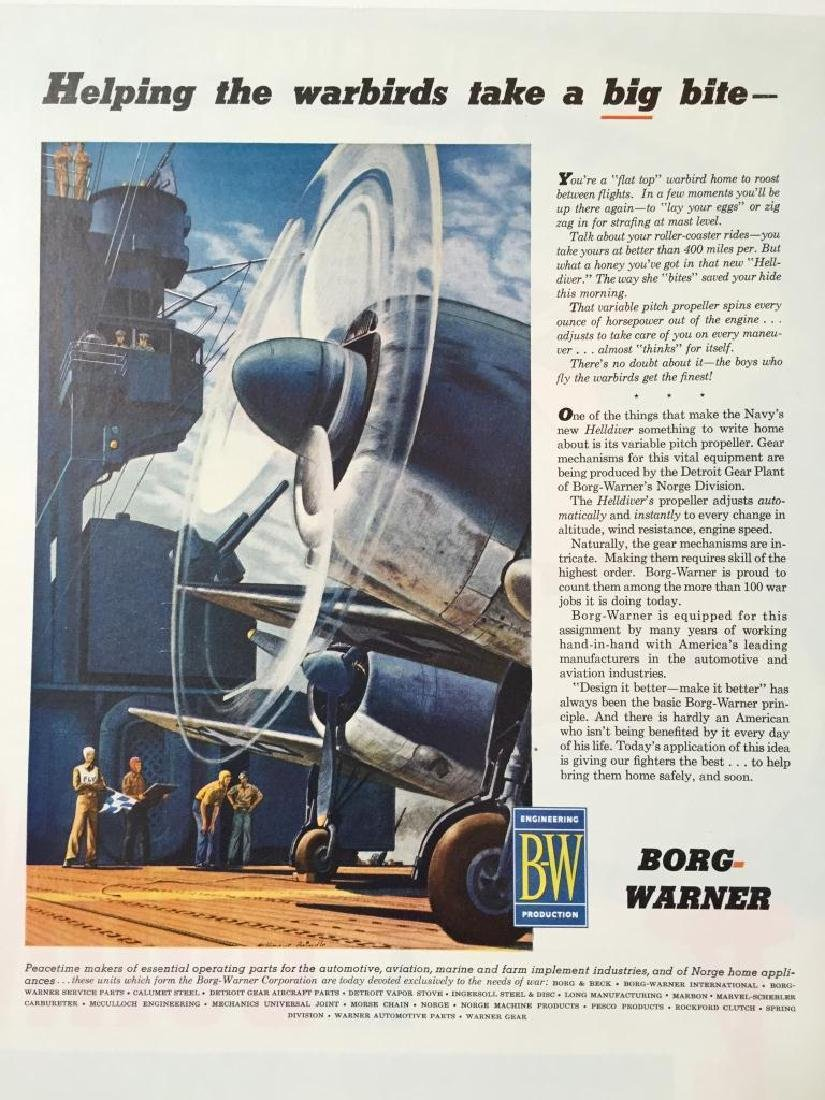 1945 Borg-Warner Engineering WWII Warbird Ad