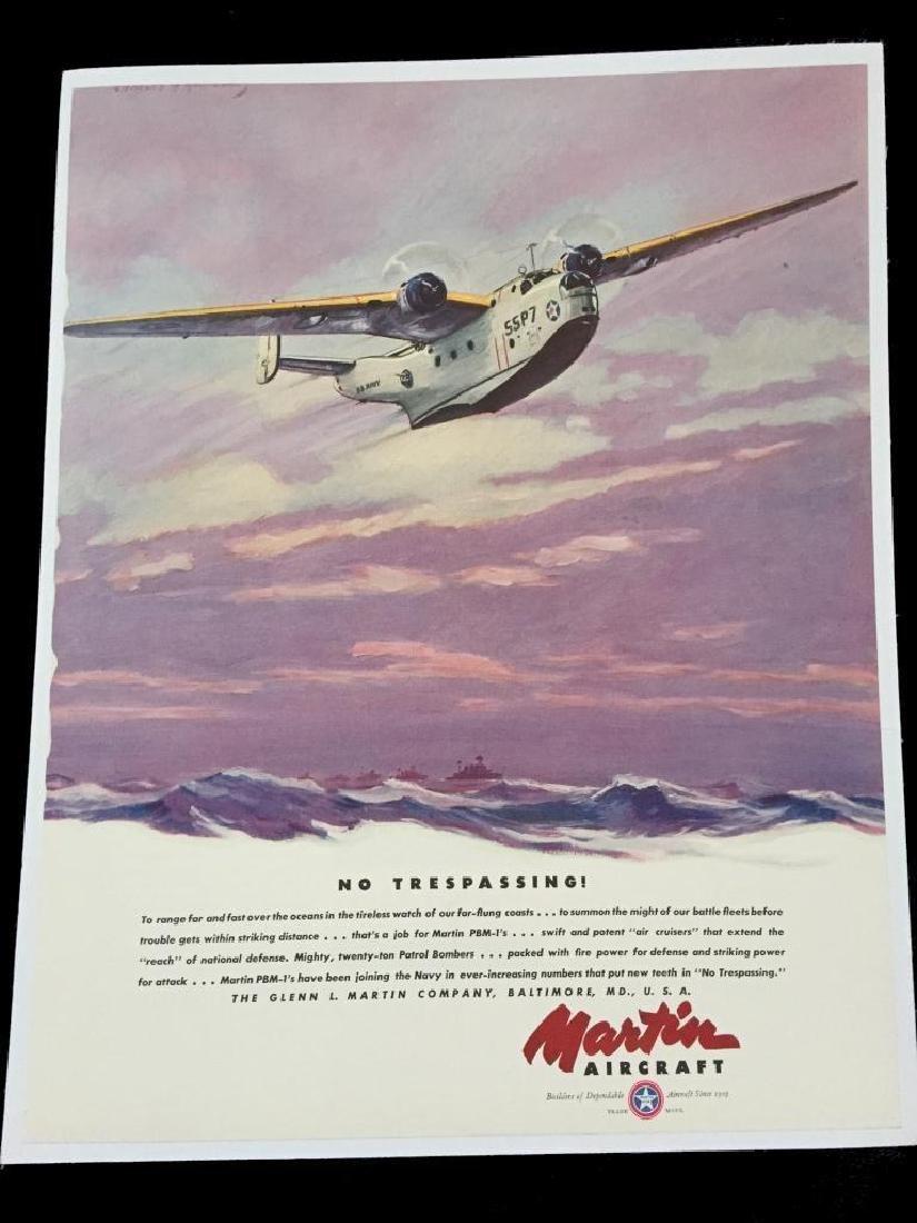 1940 Martin PBM-1 Patrol Aircraft Advertisement