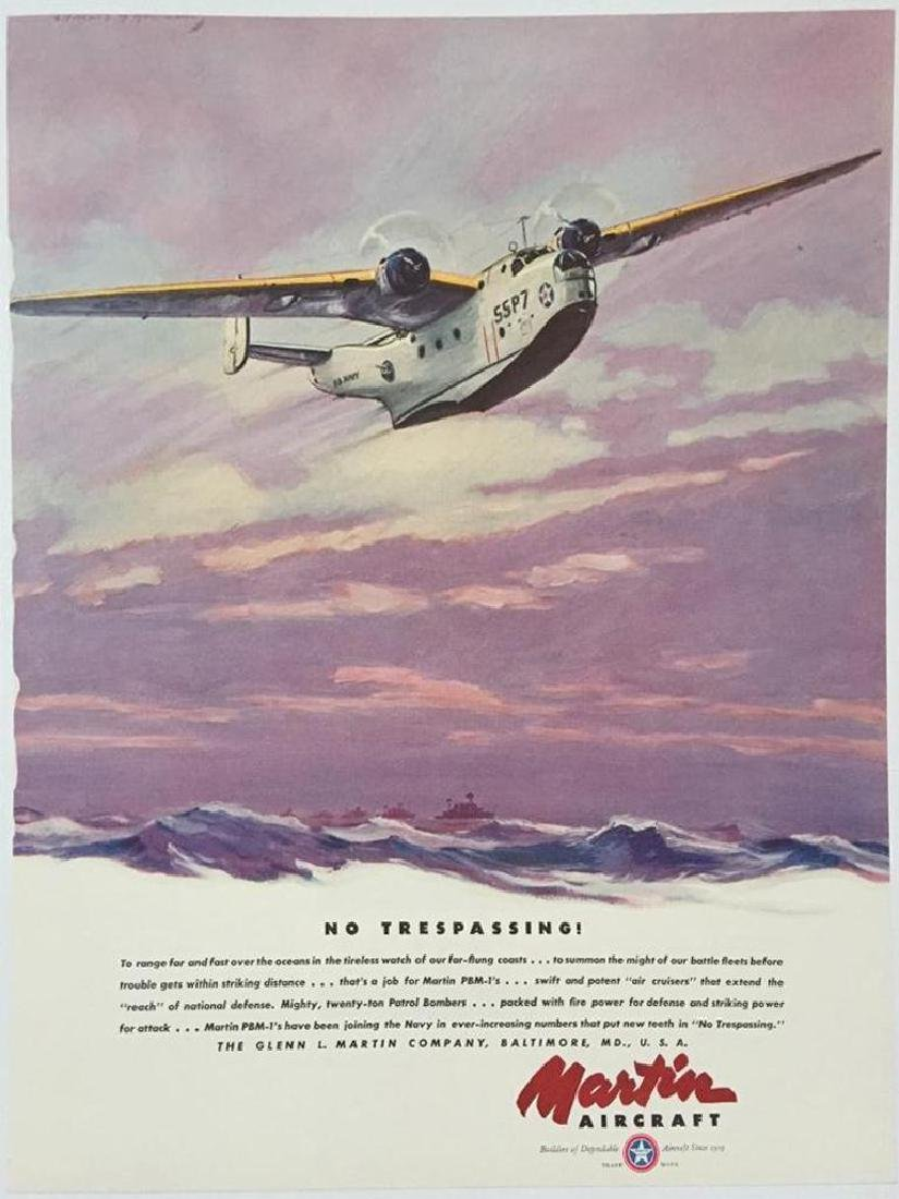 1940 Martin PBM-1 Patrol Aircraft Advertisement - 2