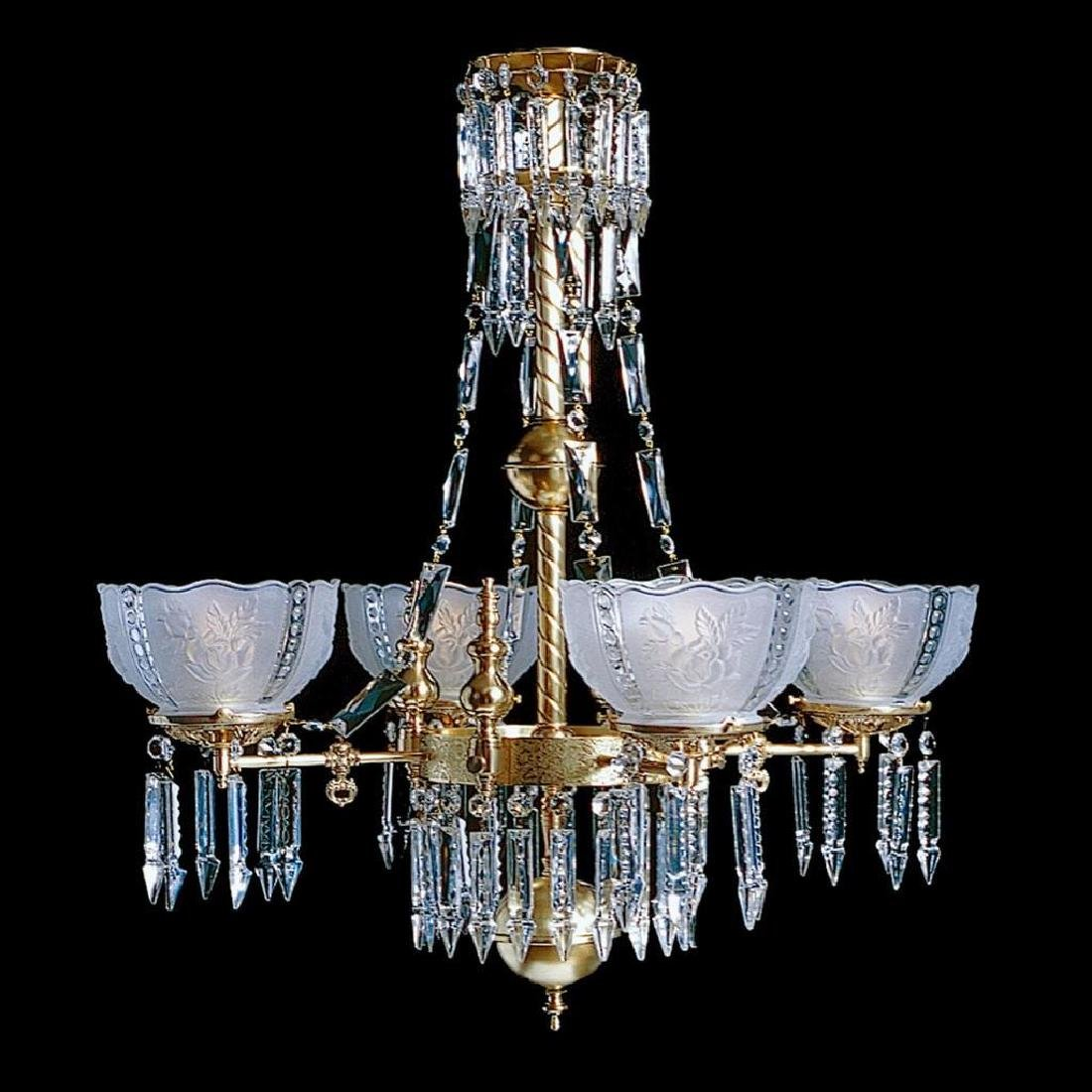Whitaker 4B - 4 Light Brass and Crystal Victorian