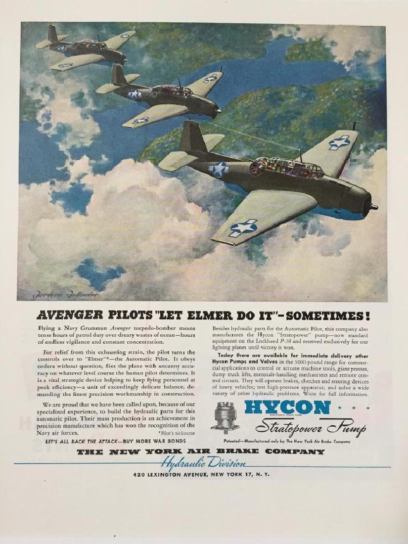 WWII Hycon Stratopower Avenger P-38 Ad