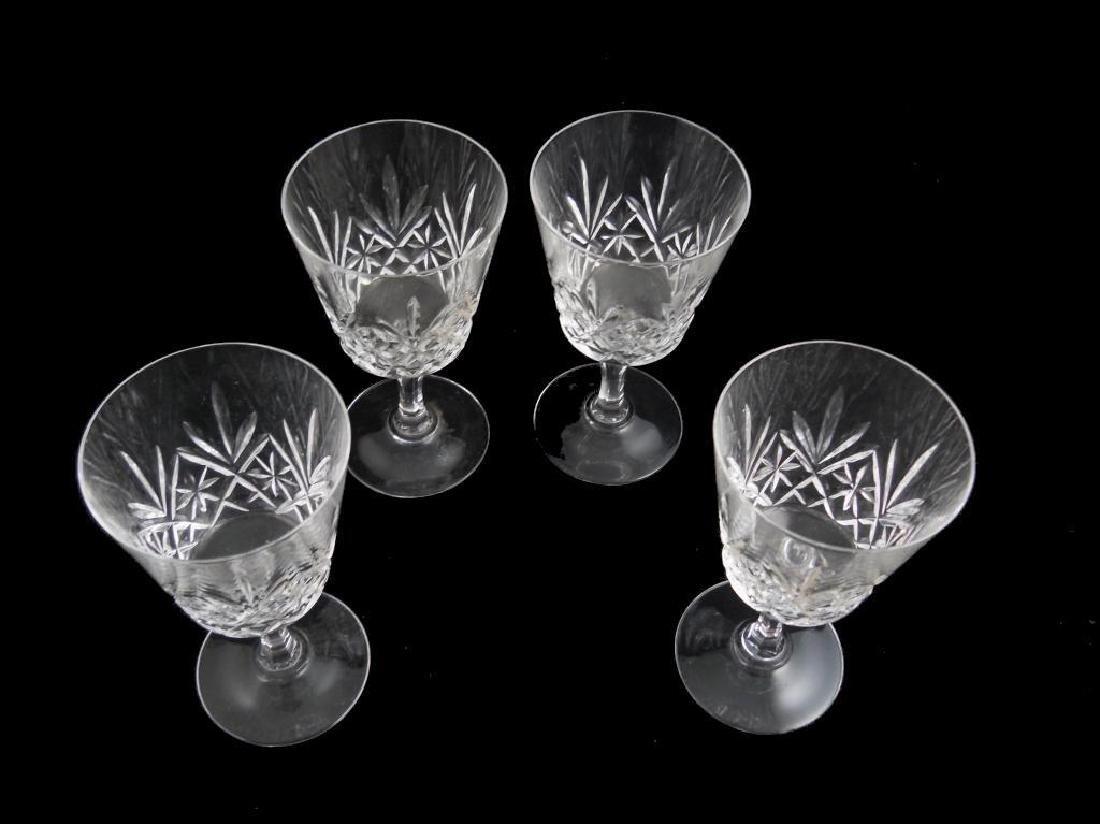 Pineapple Design Cut Crystal Goblets Set - 2