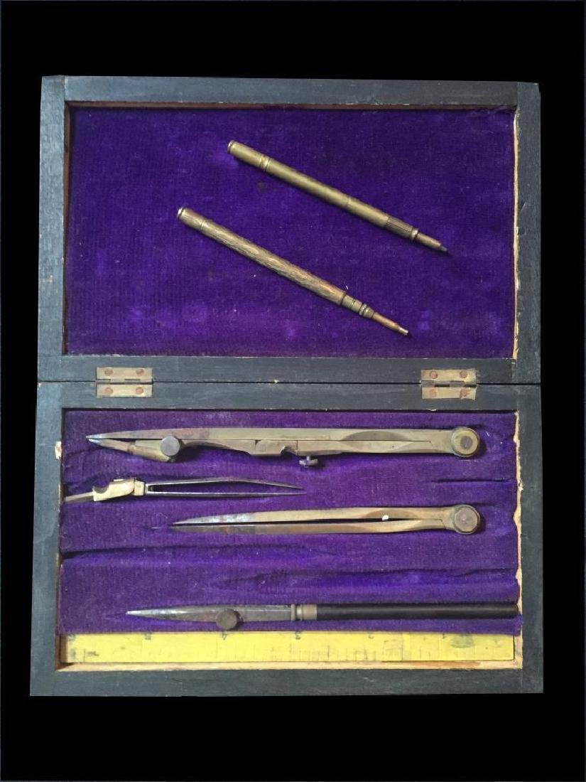 Victorian Architect Draughtsman Case & Pencils