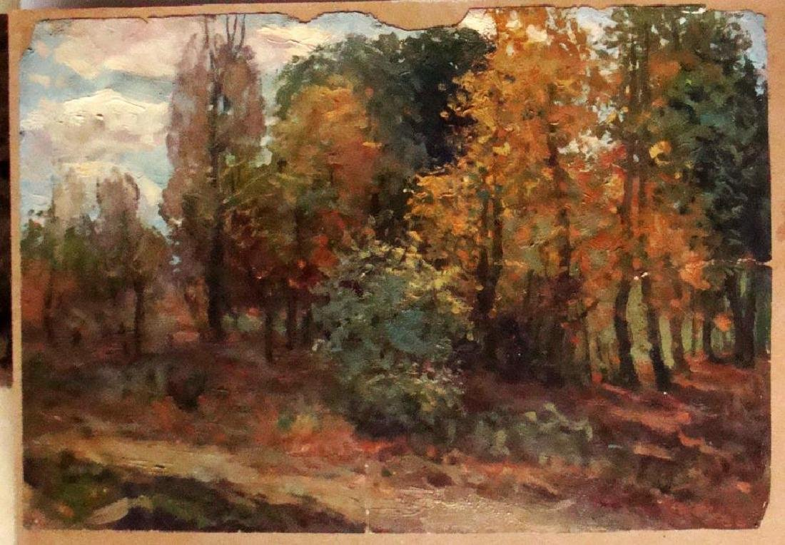 Russian School, Signed Landscape Oil Painting