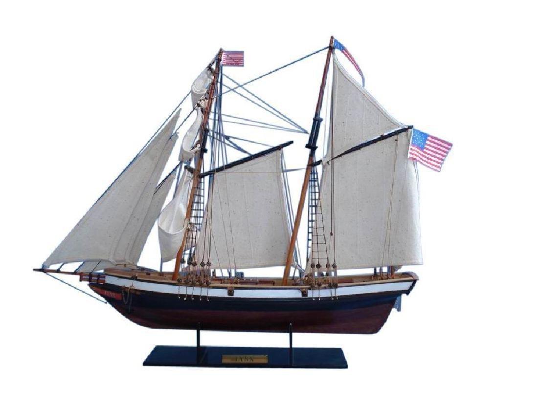 "Wooden Lynx Model Ship 24"""