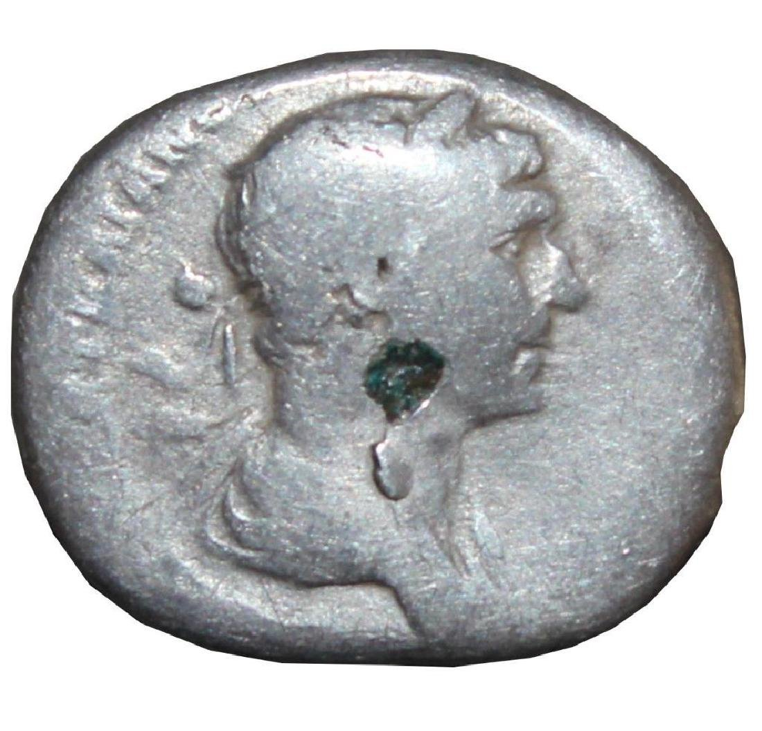 Ancient ROMAN SILVER COIN denarius Traianus ,Traian