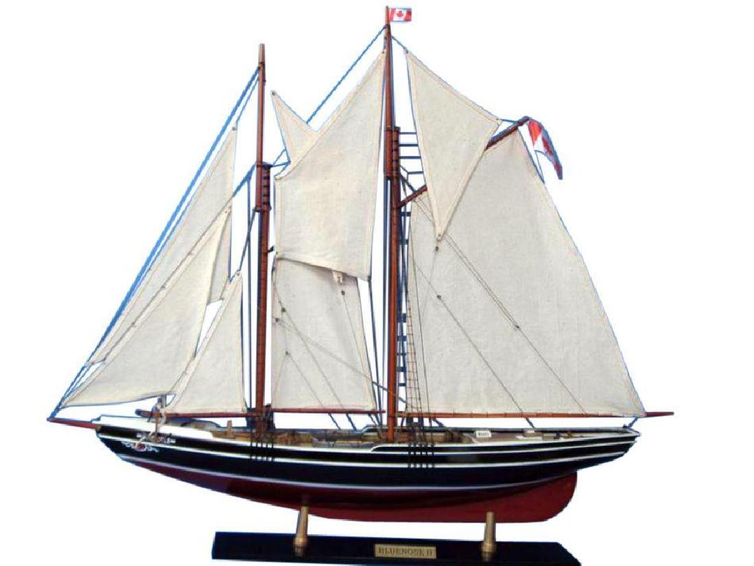 "Wooden Bluenose 2 Limited Model Sailboat Decoration 35"""