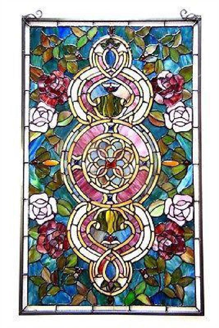 "Window Panel Floral Medallion Design 20"" W X 32"" L"