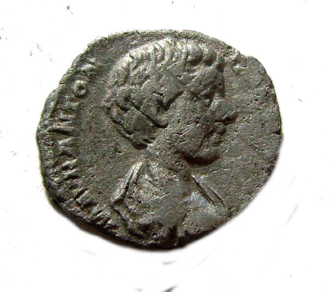 Ancient Silver Roman Coin Denarius Caracalla